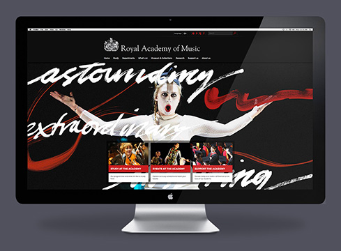 New website design & identity development for Royal Academy of Music